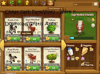 Cheat cash FarmVille 2