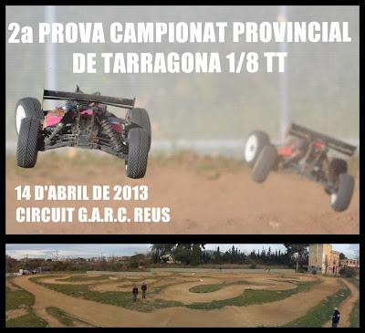 Cartell 2a Prova Provincial de Tarragona 2013 a Reus