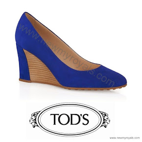 Princess Marie of Denmark Style TOD'S Suede Wedge Pumps