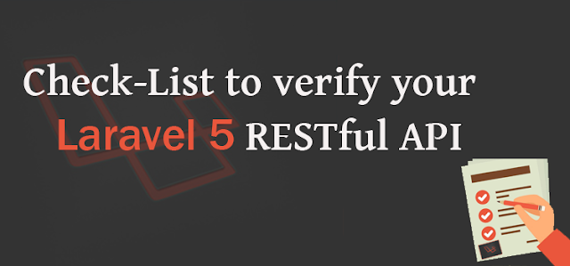 Check list to verify your laravel 5