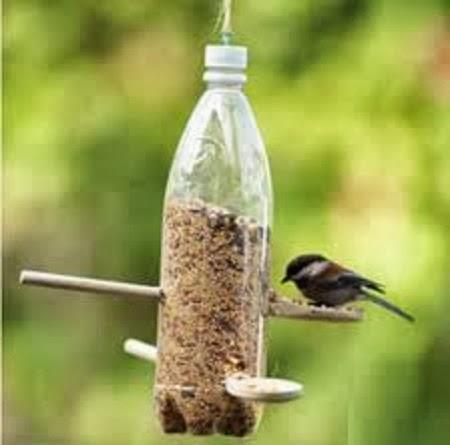 Ideas para Reciclar Botellas de Plastico, Comedero para Aves