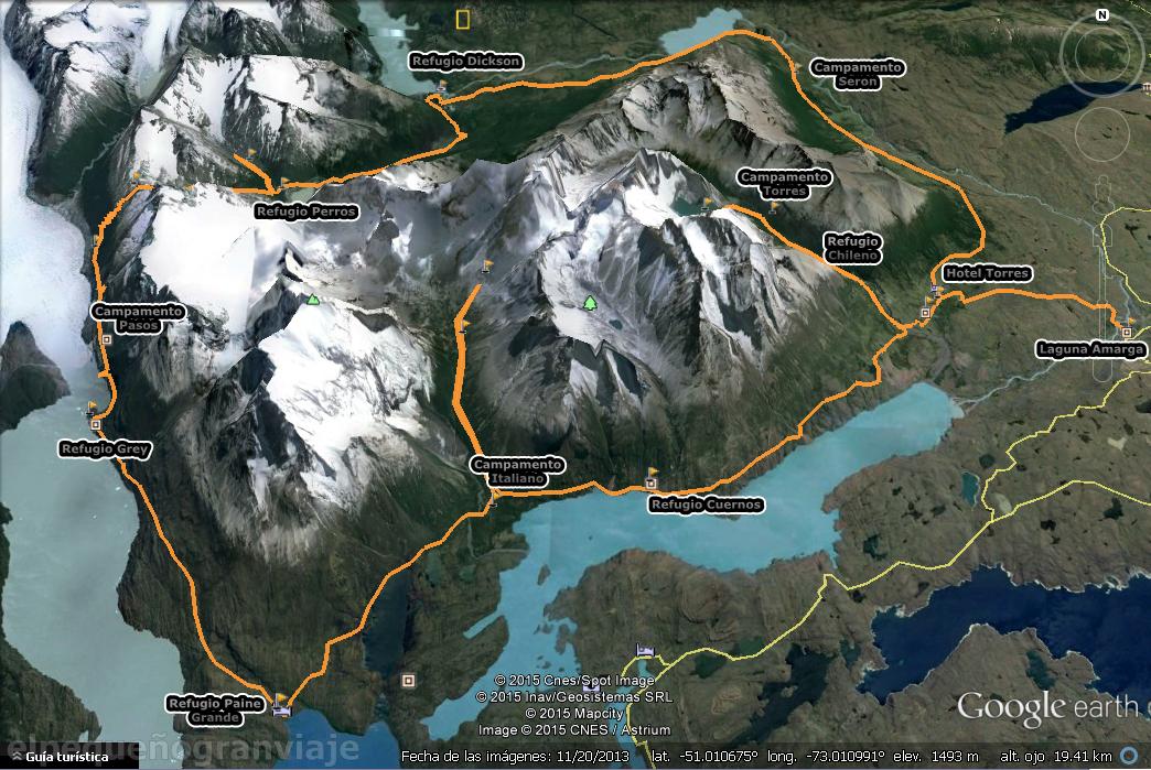 Circuito O, Logistica Torres del Paine