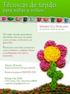 taller de técnicas de tejido para niñas y niños - poblenou, barcelona