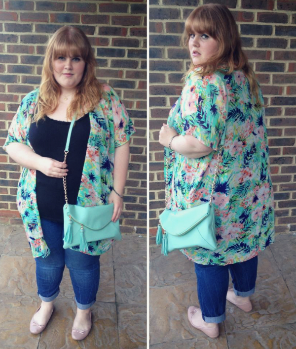 plus size fashion, plus size fashion blog, fashion and beauty blog, newlook, long kimono, summer fashion, summer plus size fashion,
