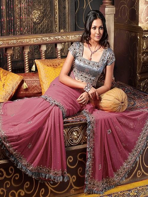Latest fashion saree blouse patterns 2011 2012 attractive saree