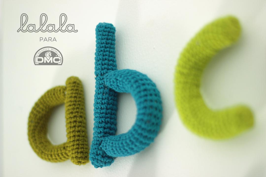 El blog de Dmc: El abecedario de ganchillo de Lalala toys