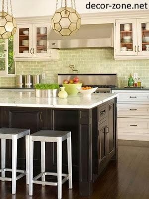 kitchen backsplash tile ideas in a fresh lime color