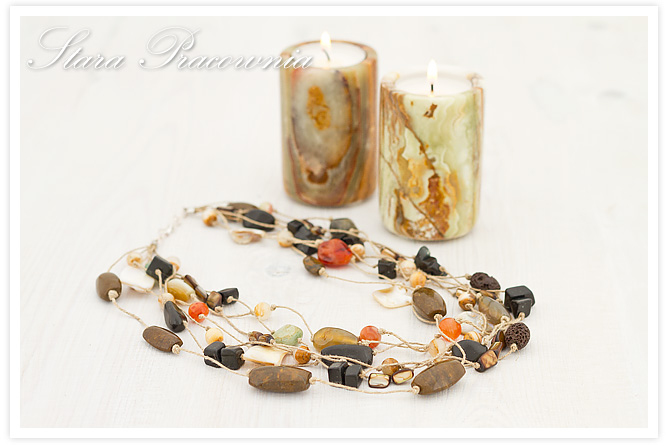 korale, kamienie naturalne, biżuteria ręcznie robiona, agaty, lawa wulkaniczna, onyks