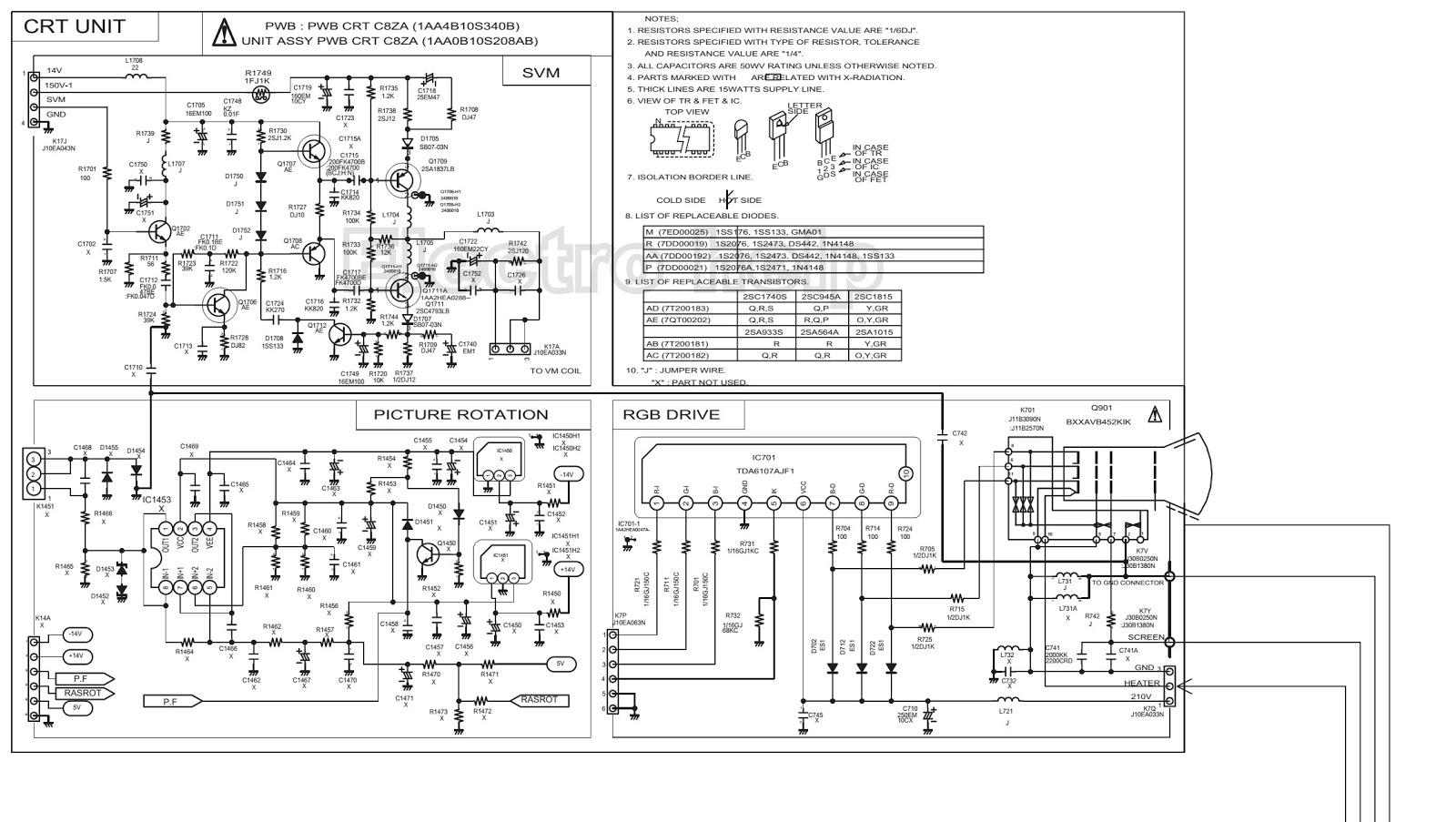 sanyo tv circuit diagram