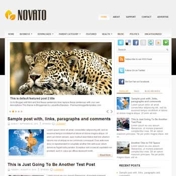 Novato blog template. template image slider blog. magazine blogger template style. wordpress theme to blogger