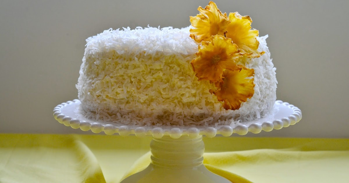 The Sugary Shrink: Pineapple Coconut Cake with Flowers