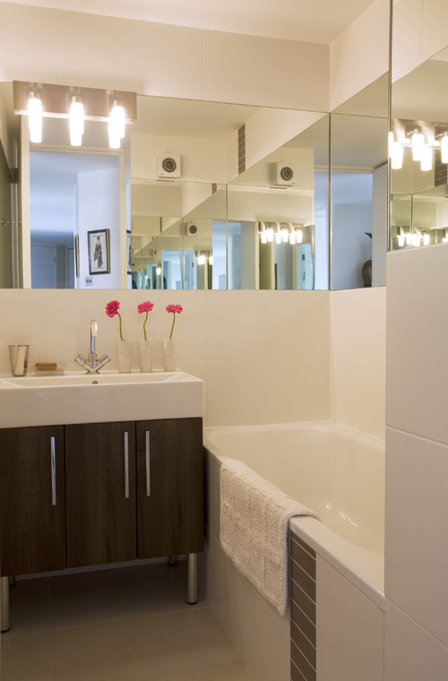 Ideas Baños Sencillos:Small Bathroom Vanity Mirror Ideas