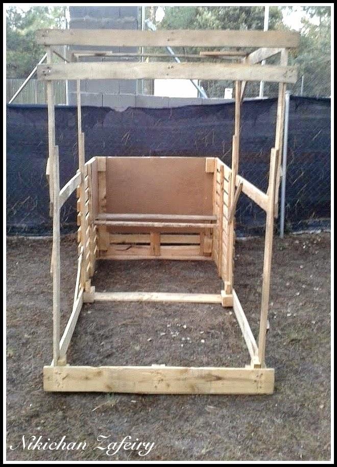 Gallinero paso a paso de madera con palets for Reciclar palets de madera paso a paso