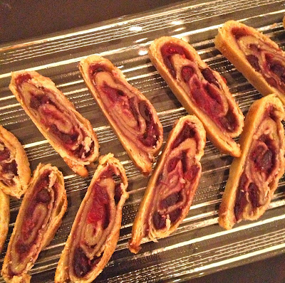 Cranberry and Raspberry Rugelach