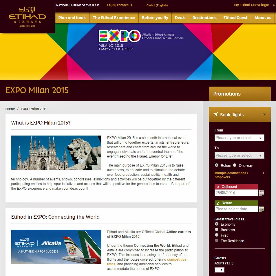 Etihad in EXPO: Connecting the World