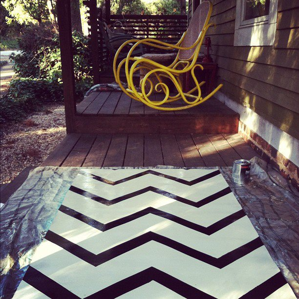 Arrowhead vintage diy twin peaks inspired painted for Can linoleum be painted