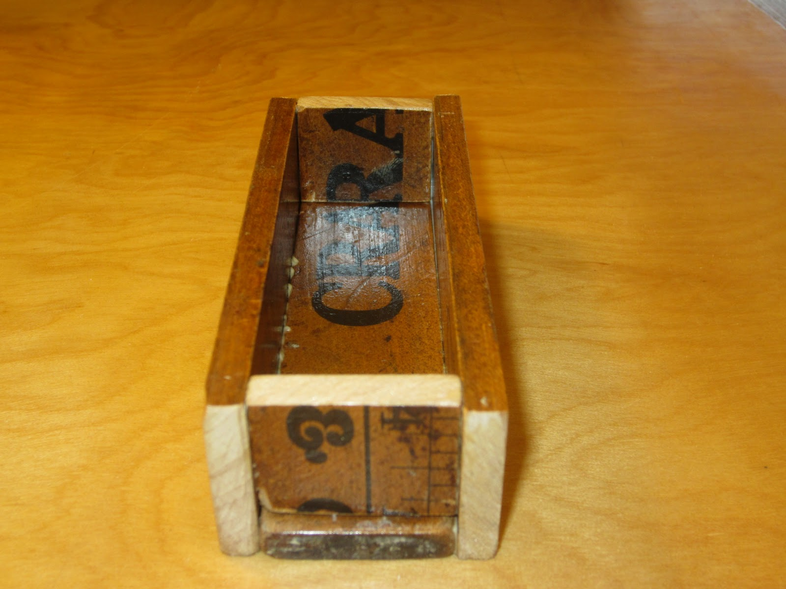 reclaimed crafts: creepy shop + awesome yardsticks = business card ...