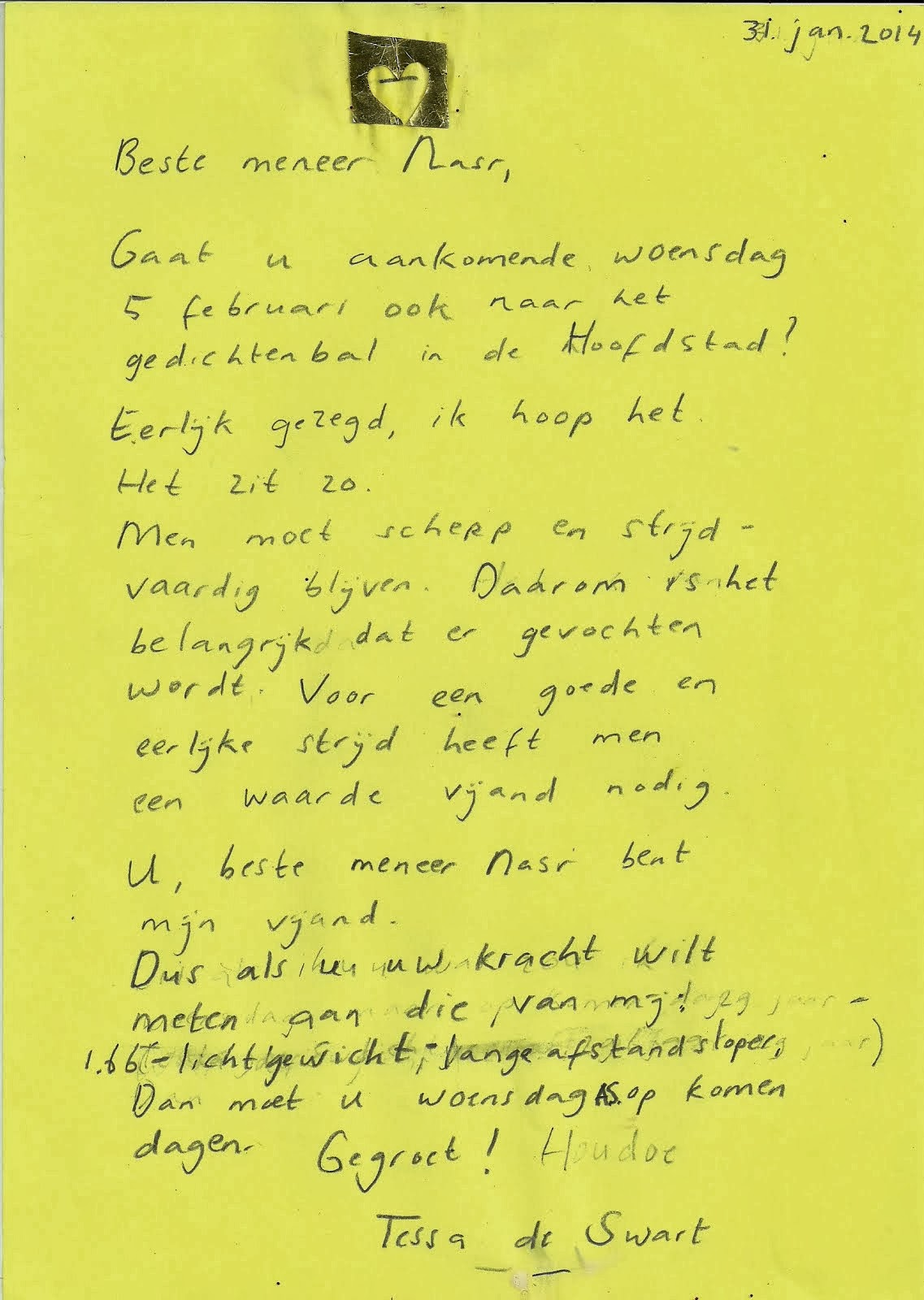 brief aan Nasr