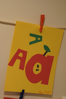 Toddler letter a craft activity