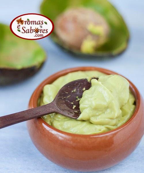 sobremesa de abacate