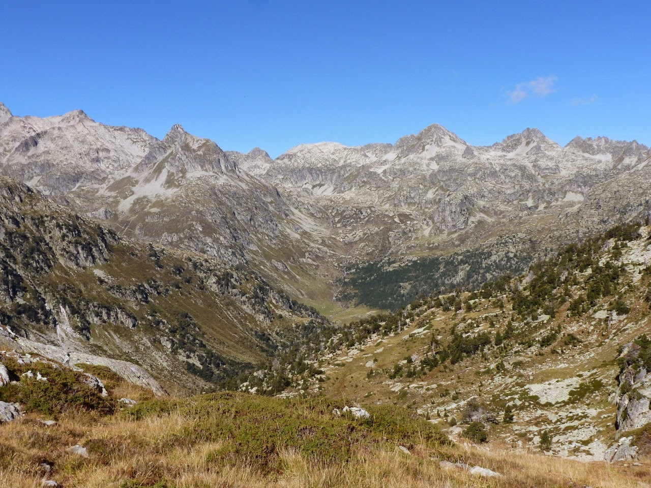Looking north down the Gave d'Arratille