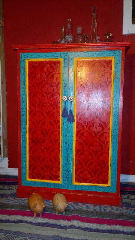 Vintouch muebles reciclados pintados a mano armario - Armarios pintados a mano ...