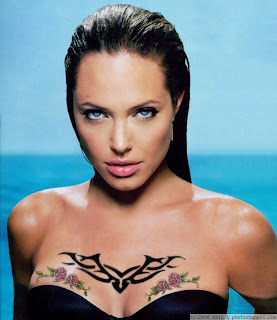 Angelina Jolie Chest Tattoo Design