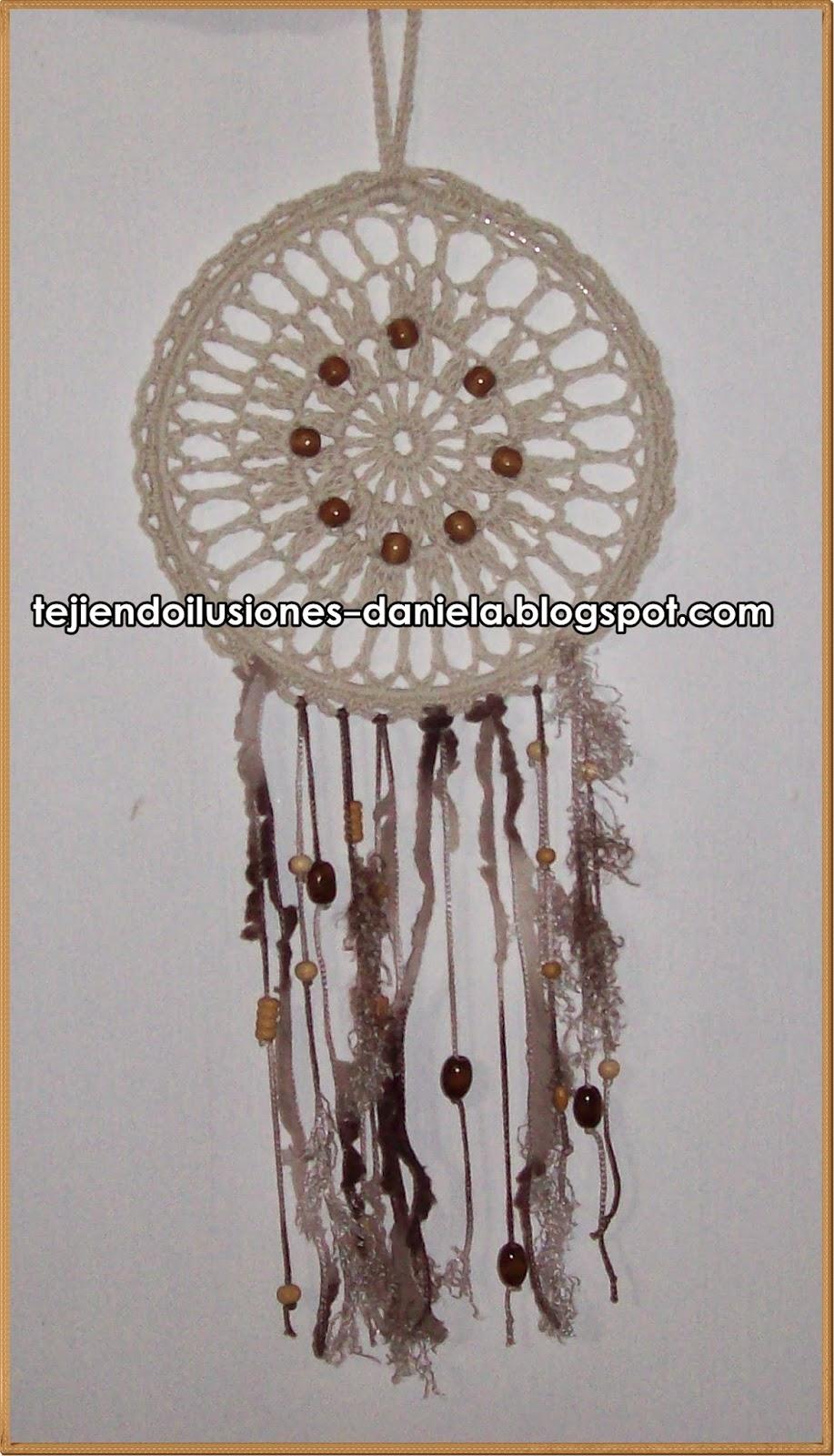 tejido crochet y artesanías: ATRAPASUEÑOS.