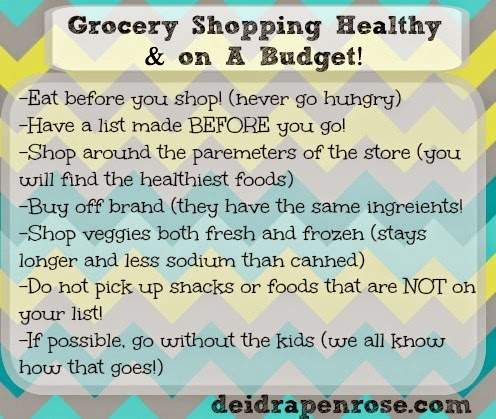 Healthy tips when grocery shopping