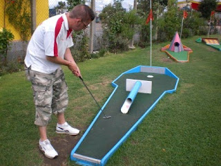 Crazy Golf at Knightly's Amusements and Fun Park in Towyn