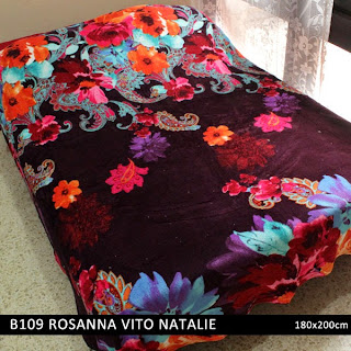 Jual Selimut Rosanna Vito Soft Blanket Natalie