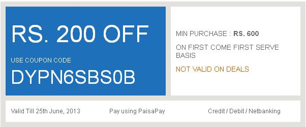 Discount coupon for ebay.in