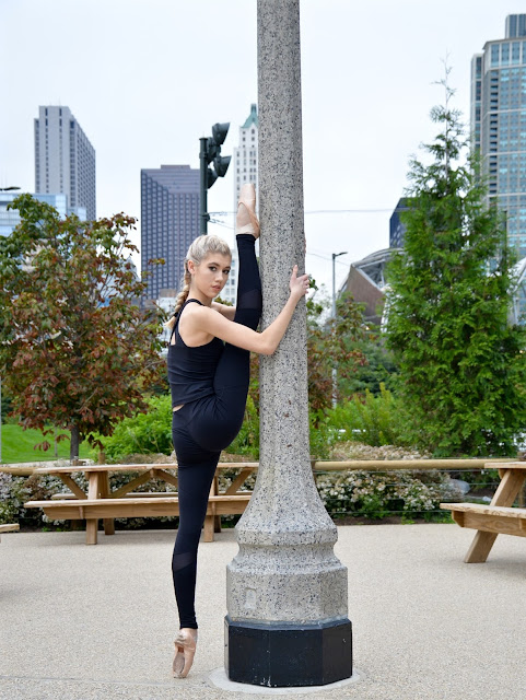 chicago, dancer, city, ballet, active wear, garage clothing