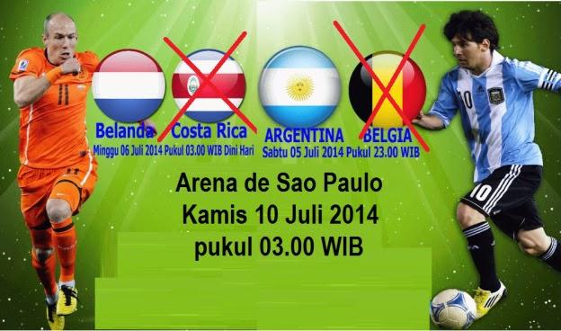 Perkiraan Skor Laga Empat Besar FIFA World Cup 2014 : Belanda vs Argentina
