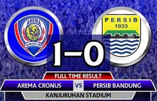 FT: Arema Cronus vs Persib Bandung 1-0