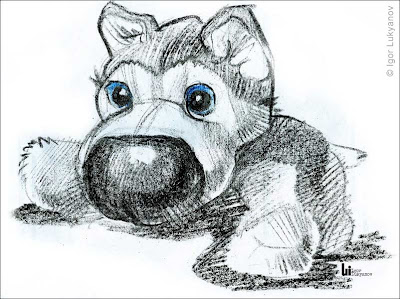 stuffed toy puppy sketch drawing