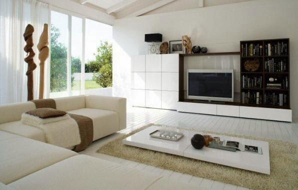 gambar ruang tamu model minimalis sederhana modern 2014