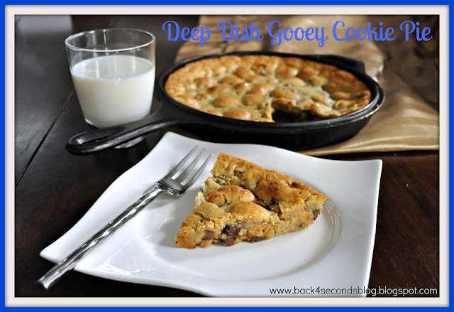 Deep Dish Gooey Cookie Pie #castironskillet #cookie #deepdish