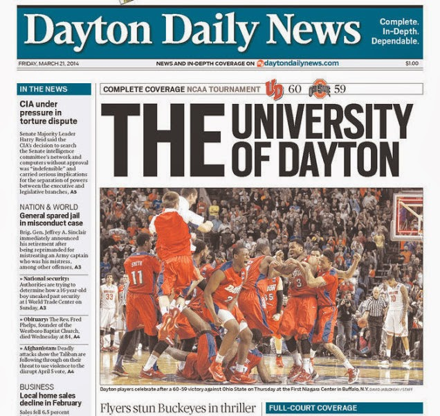 Newspaper dubs Dayton THE University of Dayton, takes jab at Ohio State.