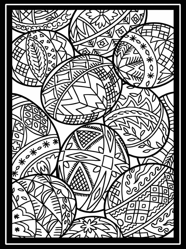 Sassy image in easter egg printable coloring pages