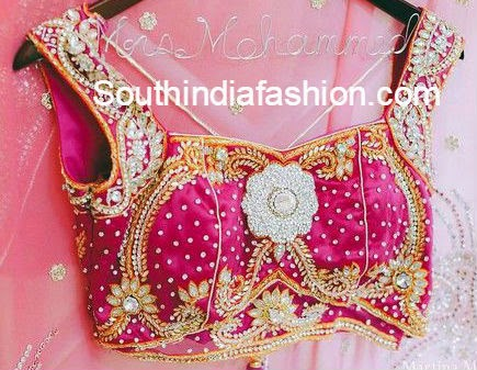 bridal sari blouse designs