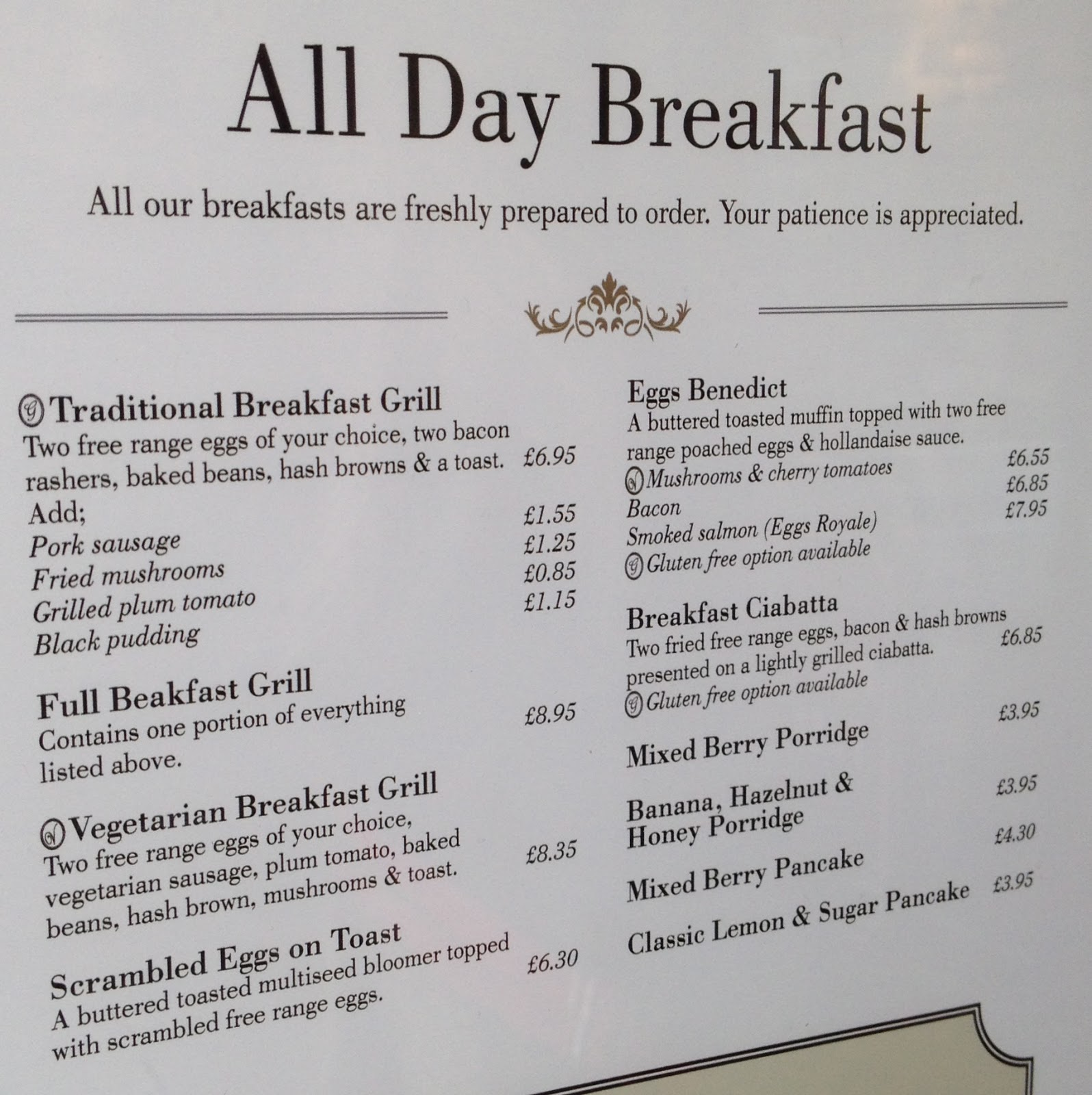 The Fry up Inspector: Harriets Tearooms - Norwich