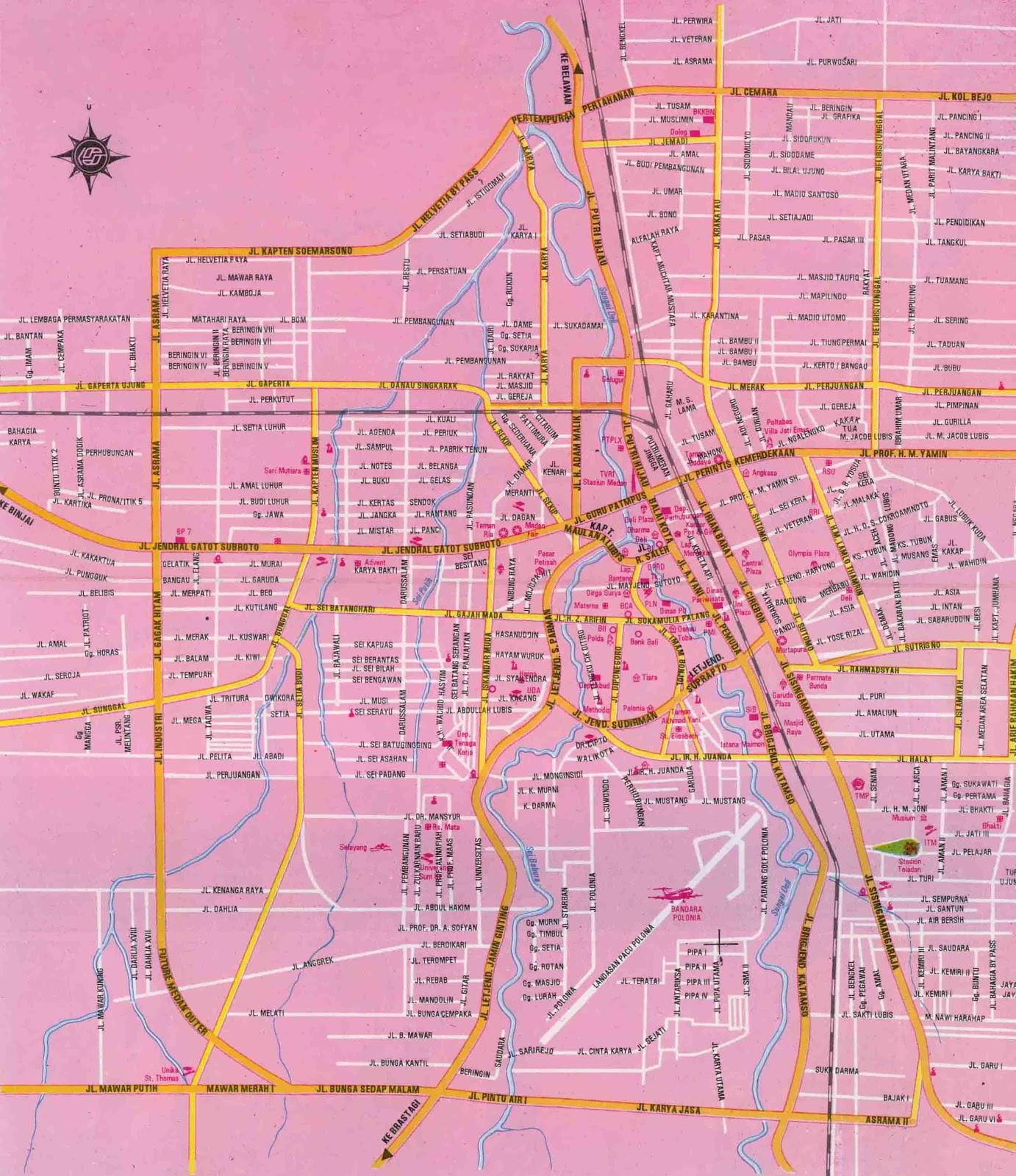 AMAZING INDONESIA Medan City Map