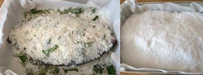 Branzino cotto al sale prepariamo la cottura
