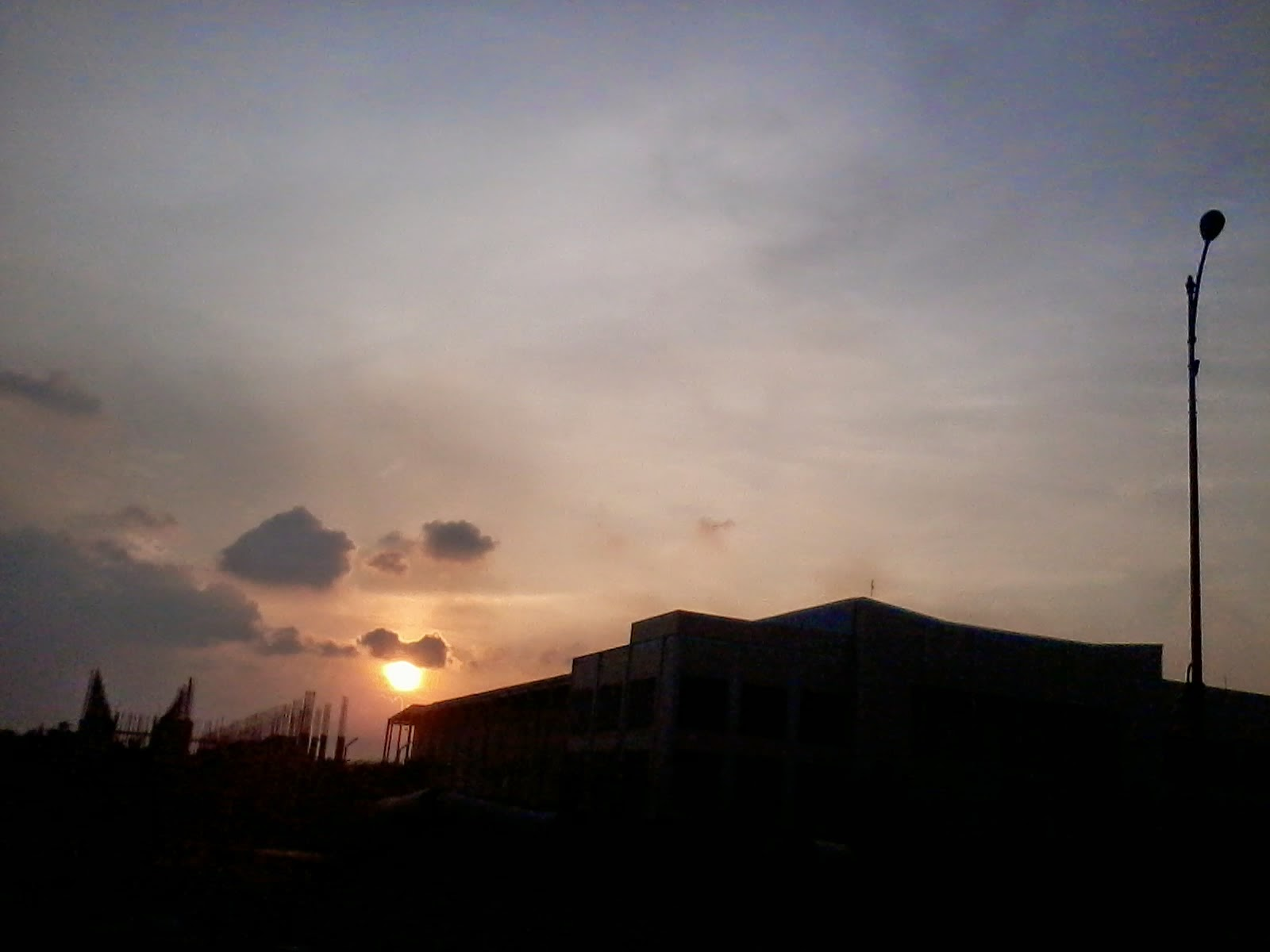 Sunset Behind My President University
