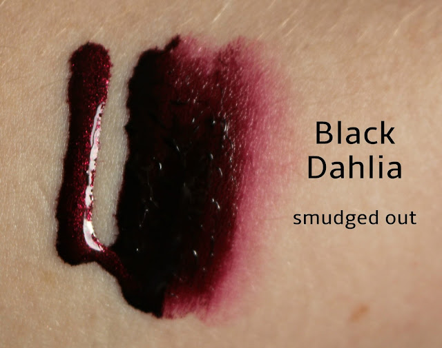Black Dahlia Lip Tar smudged out