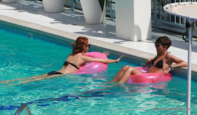 The Saturdays girls group bikini candids