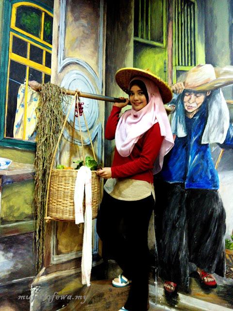 Tempat Menarik Pulau Pinang, Penang Time Tunnel, 3D Mural Art Street, street art pulau pinang
