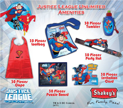 Shakeys Justice League Party Package