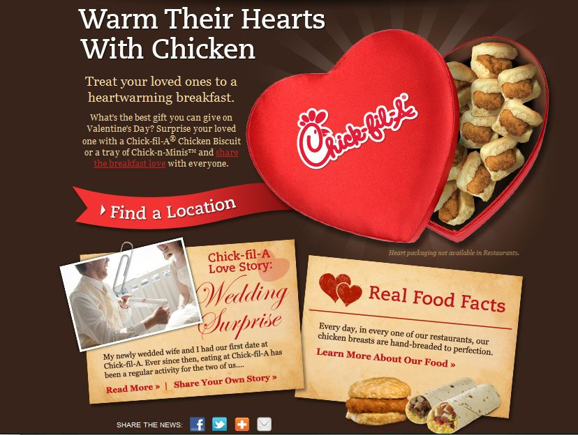 Chick Fil A Forget The Candy On Valentines Day Report Fast Food